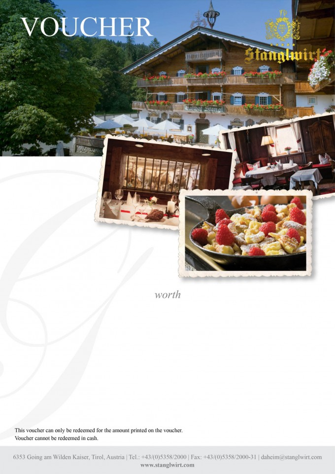Stanglwirt Traditional Inn Voucher